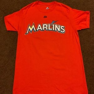 Small marlins majestic t shirt